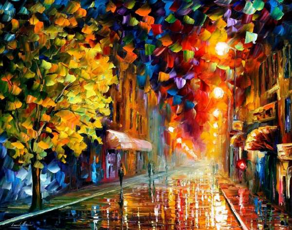 oil painting art, oil painting art classes, happy street