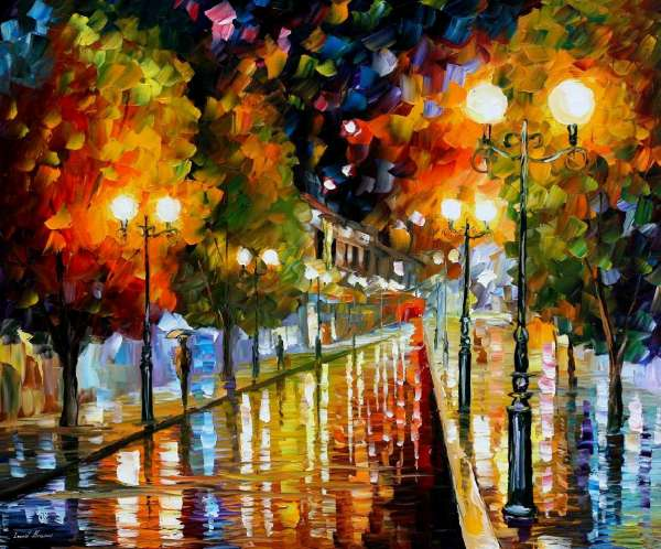Leonid Afremov, oil on canvas, palette knife, buy original paintings, art, famous artist, biography, official page, online gallery, large artwork, impressionism, GERMANY