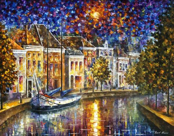 "The Entrance to Amsterdam 36""x48"" (90cm x 120cm)"