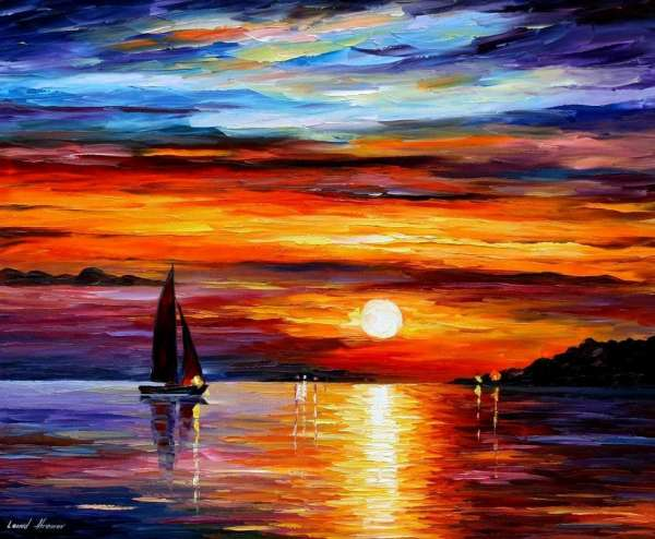 sunset oil painting, sunset painting on canvas, famous sunset paintings