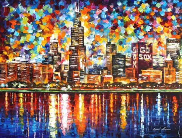 chicago canvas art