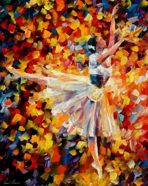 Leonid Afremov, oil on canvas, palette knife, buy original paintings, art, famous artist, biography, official page, online gallery, large artwork, young,  white dress, music, dance, girls