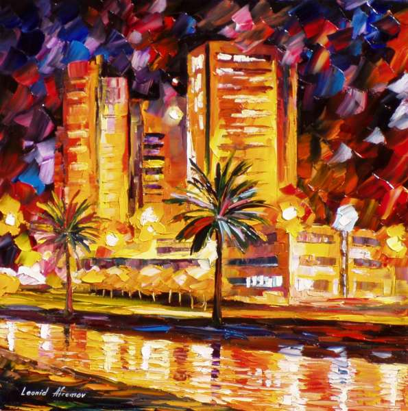 oil painting on canvas by leonid afremov, oil painting on canvas