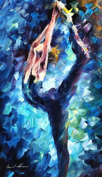 blue ballerina painting
