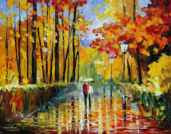 autumn rain painting