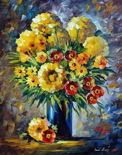 yellow flowers paintings, yellow flower painting