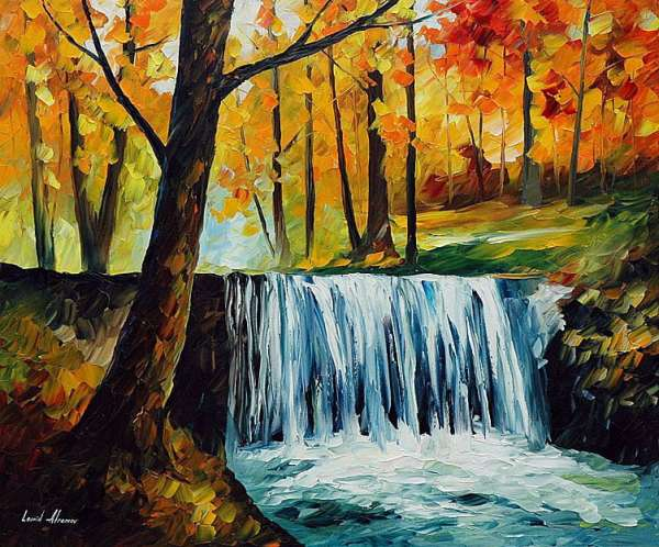 waterfall paintings, waterfall painting, waterfall oil paintings, waterfall oil painting
