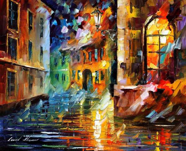 Leonid Afremov, oil on canvas, palette knife, buy original paintings, art, famous artist, biography, official page, online gallery, large artwork, european city