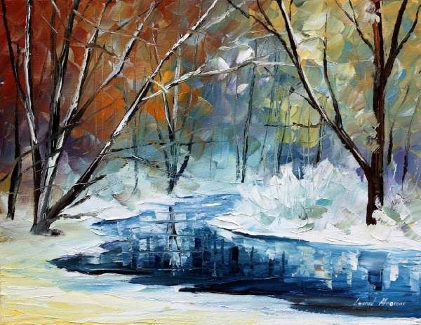 winter oil paintings, leonid afremov winter, winter oil painting, winter paintings images, afremov winter