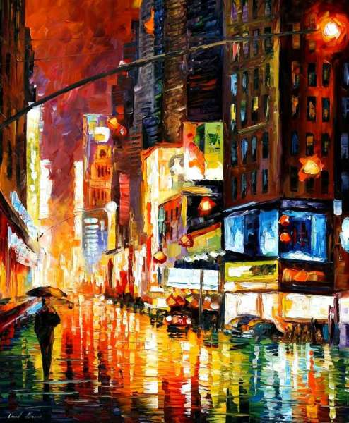 times square painting, time square painting