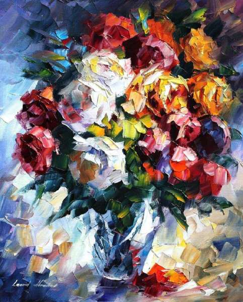 oil paintings roses, paint roses on oil canvas