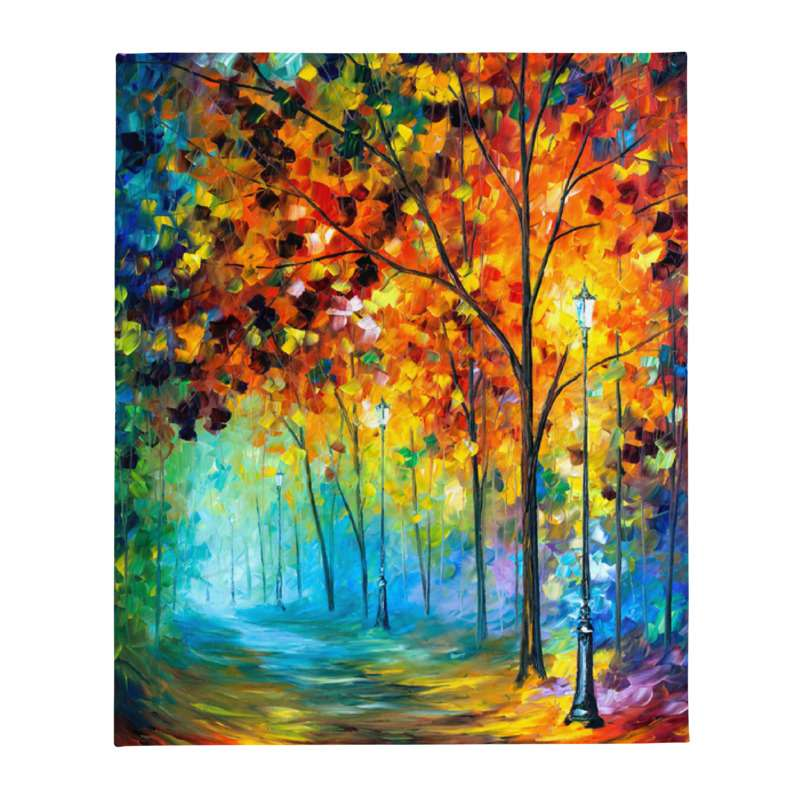 50″x60″ Throw Blanket with different designs by Leonid Afremov