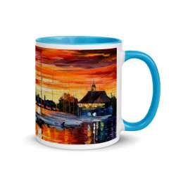 Mug with Color Inside blue